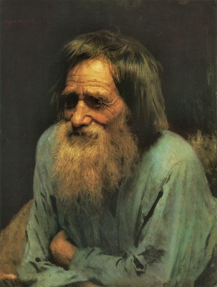 Study of a peasant (1882), Ivan Kramskoy.jpg